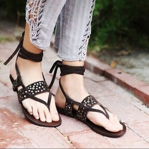 Free People Shoes - Free People Lyla Sandals Gladiator Lace Up Studded